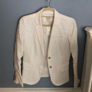 White linen J. Crew Blazer, size 0